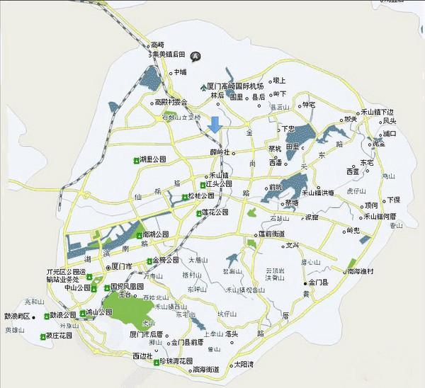 厦门旅游地图全图